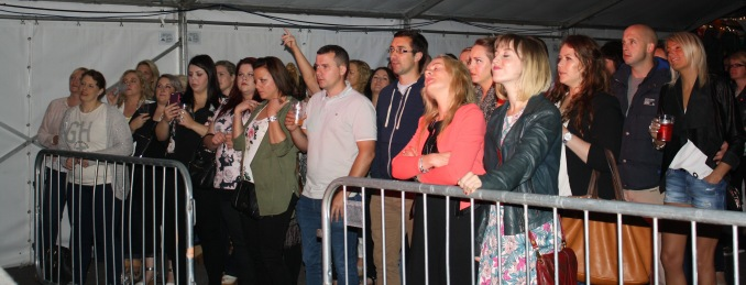 Audience in front of stage