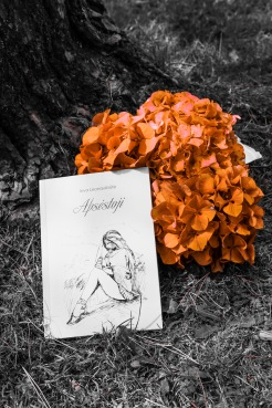 book and flowers carmine